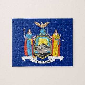 Puzzlespiel mit Flagge von New- YorkStaat Puzzle