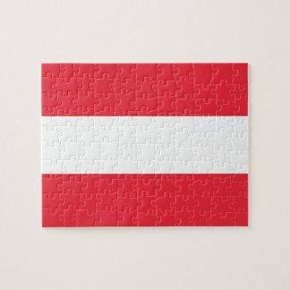 Puzzlespiel mit Flagge von Österreich Puzzle