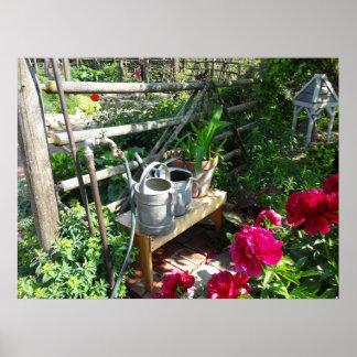 Puzzlespiel-perfektes Garten-Foto Posterdruck