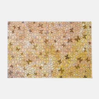 Puzzlespiel Schmetterlinge und Gänseblümchen-Braun Türmatte