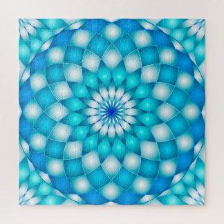 Puzzlespielmandala-abstrakte Lotos-Blume Puzzle