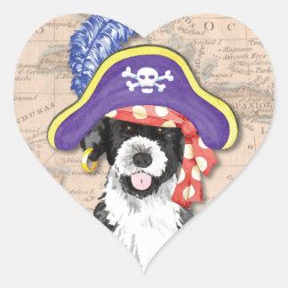 Pwd-Pirat Herz-Aufkleber