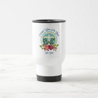 PWOC Blumenlogo-Reise-Tasse Reisebecher