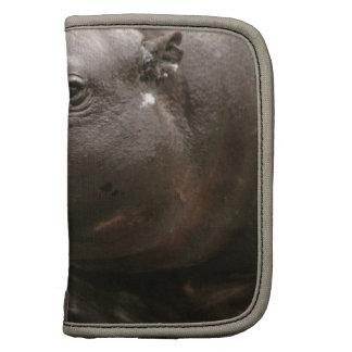 Pygmäenflusspferd-Geldbörsen-Folio Planer