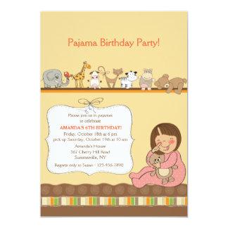 Pyjama-Party Einladung