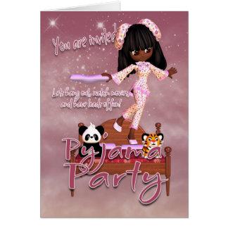 Pyjama-Party Einladungs-Karte Karte