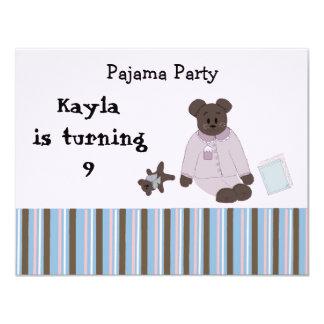 Pyjama-Party-Geburtstags-Einladungen