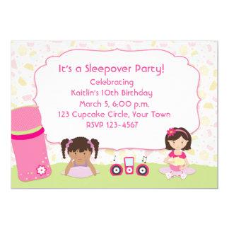 Pyjama-Party, Mädchen 12,7 X 17,8 Cm Einladungskarte