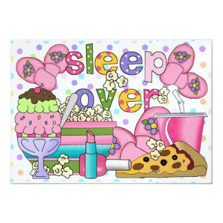 Pyjama-Party/Schlaf vorbei - SRF 12,7 X 17,8 Cm Einladungskarte