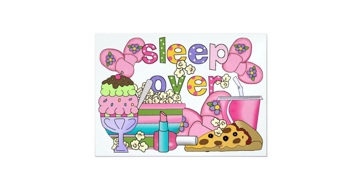 pyjama party schlaf vorbei srf einladung zazzle. Black Bedroom Furniture Sets. Home Design Ideas