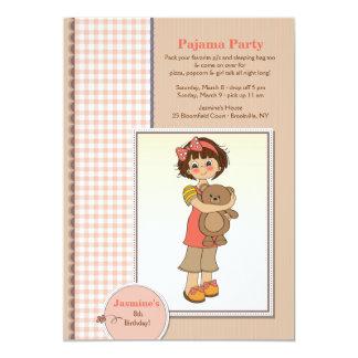 Pyjama-Party-Süsse-Einladung 12,7 X 17,8 Cm Einladungskarte