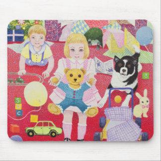 Pyjamas des Teddybären Weihnachts Mousepad