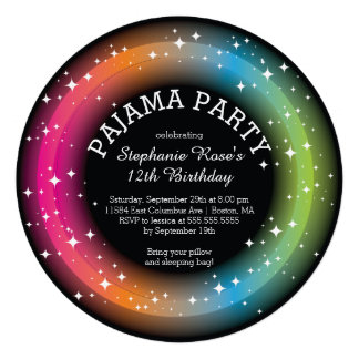 Pyjamasleepover-Geburtstags-Party Einladungen