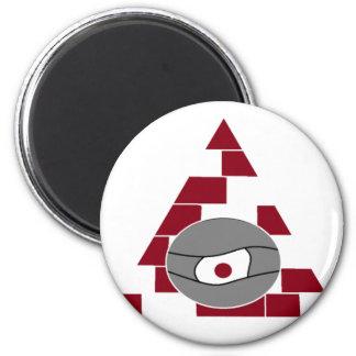 Pyramide-Auge Runder Magnet 5,1 Cm
