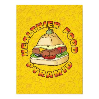 Pyramide-Burger 16,5 X 22,2 Cm Einladungskarte