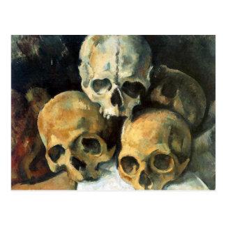 Pyramide der Schädel Paul Cezanne Postkarte