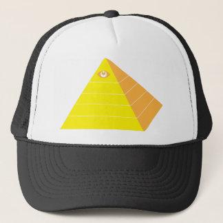 Pyramide mit allem sehenden Auge Truckerkappe