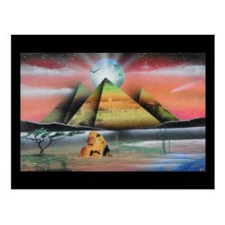 Pyramide-Postkarte Postkarte