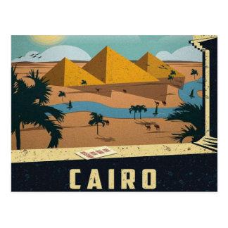 Pyramide-Reise Kairos altes Ägypten Vintages retro Postkarte