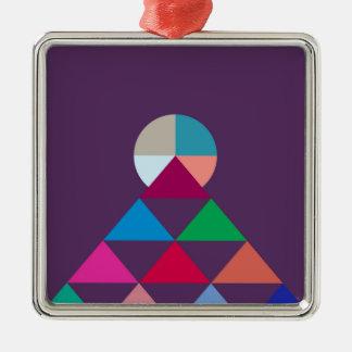Pyramide Silbernes Ornament