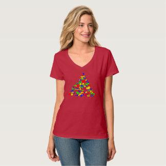 Pyramide von Farben T-Shirt