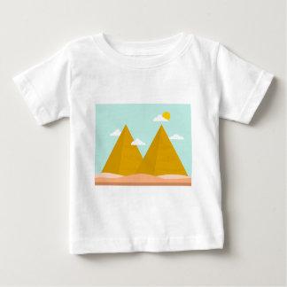 Pyramide-Wildnis-Wolkesun-Natur Baby T-shirt