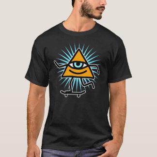 Pyramideaugen-Skate-Gottentwurf T-Shirt