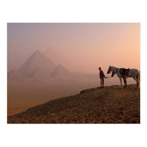 Pyramiden Afrikas, Ägypten, Kairo, Giseh, Giseh an Postkarte