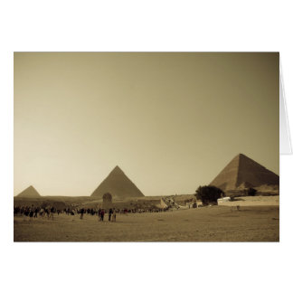 Pyramiden in Giseh in Kairo, Ägypten Karte