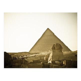 Pyramiden in Giseh in Kairo, Ägypten Postkarte