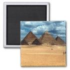 Pyramiden von Gizeh Quadratischer Magnet