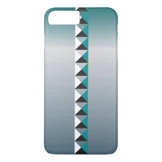 Pyramidespitzen und -Imitat bürsteten rostfreien iPhone 8 Plus/7 Plus Hülle