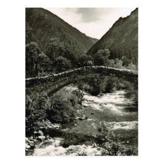 Pyrenäen, Andorra, alte Brücke Postkarte