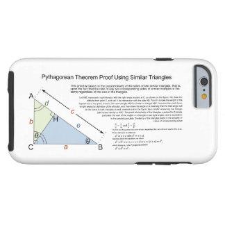 Pythagoräisches Theorem-Beweis unter Verwendung Tough iPhone 6 Hülle