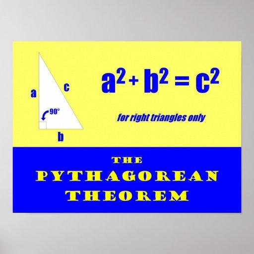 Pythagoräisches Theorem Plakat