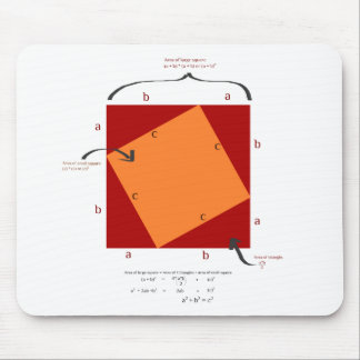 Pythagoras-Demonstration - Mathe ist schön Mauspad