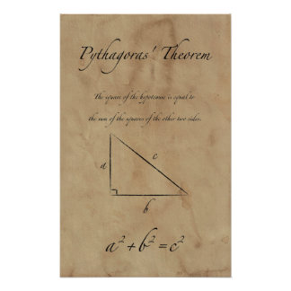 Pythagorases Theorem - Mathe-Plakate Poster