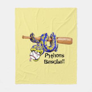 Pythonschlange-Baseball Fleecedecke