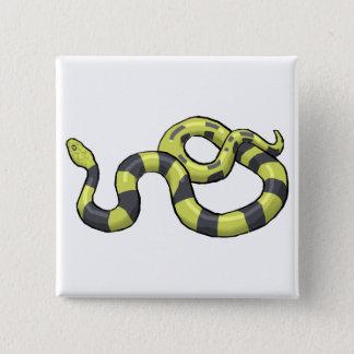 Pythonschlange-Schlange Quadratischer Button 5,1 Cm