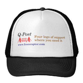 Q-Posten Fernlastfahrer-Hut w/colored Text, Logo u Tuckercaps