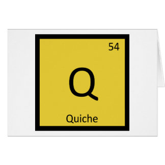 Q - Quiche-Frühstücks-Chemie-Periodensystem Karte
