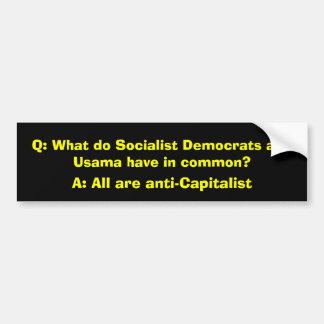 Q: Was tun, haben sozialistische Demokraten und Us Autoaufkleber