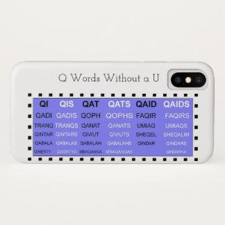 Q-Wörter ohne einen u-Spielhelfer iPhone X Hülle