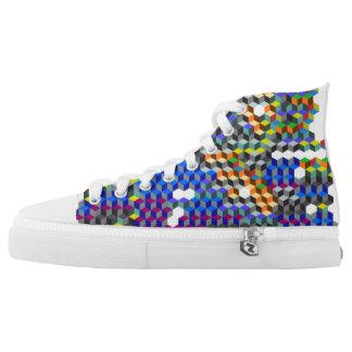 Q-Würfel Hoch-geschnittene Sneaker