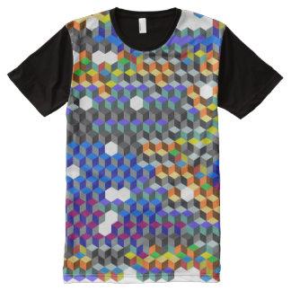 Q-Würfel T-Shirt Mit Komplett Bedruckbarer Vorderseite