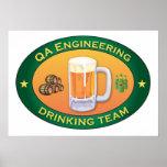 Qa-Technik-trinkendes Team Poster