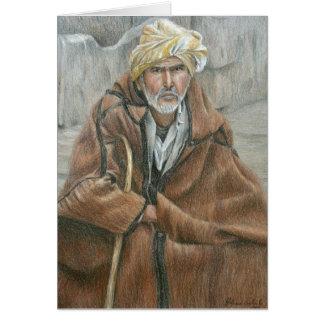 Qashabia Mantel-Mann Grußkarte