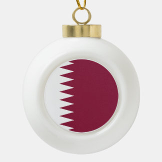 Qatar-Flagge Keramik Kugel-Ornament