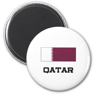 Qatar-Flagge Runder Magnet 5,7 Cm