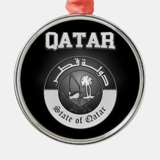 Qatar-Wappen Silbernes Ornament